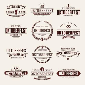 Oktoberfest typographic  set