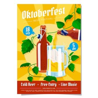 Modello di volantino verticale dell'oktoberfest