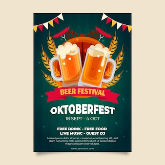 Oktoberfest vertical poster template
