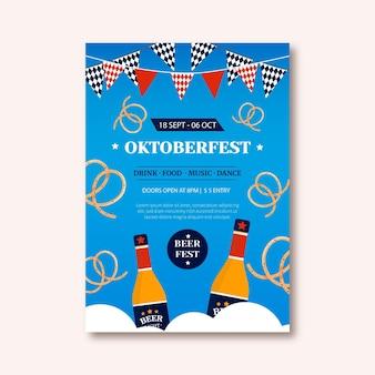 Modello di poster verticale dell'oktoberfest Vettore gratuito