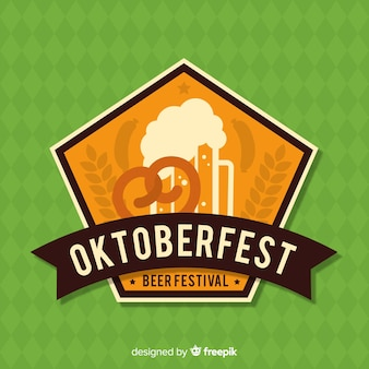 Oktoberfest vintage background with jars of beer