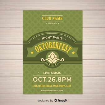Oktoberfest vintage party poster template