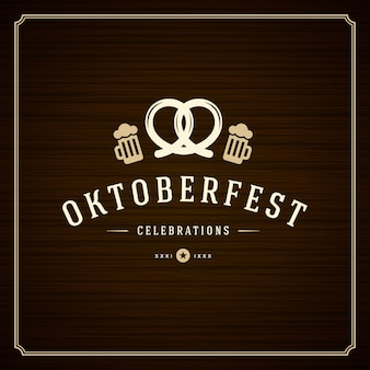 Oktoberfest vintage poster or greeting card