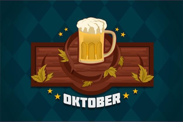 Oktoberfest with barrel beer logo