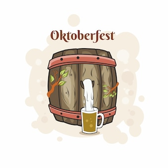 Oktoberfest with barrel beer
