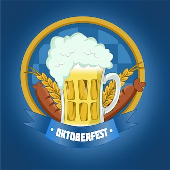 Oktoberfest with beer and sausage