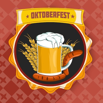 Oktoberfest with beer,wheat flour and sausage