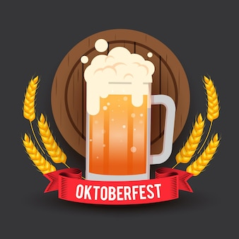 Oktoberfest with pint of beer