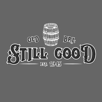 Old barrel badge