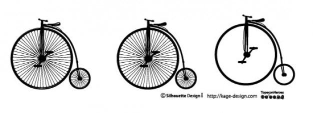 Old bicycle. big wheel.