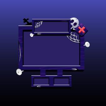 ハロウィーンをテーマにした2dゲーム用の古いボードポップアップ