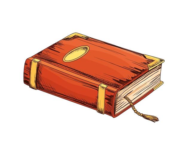 Старая книга на белом