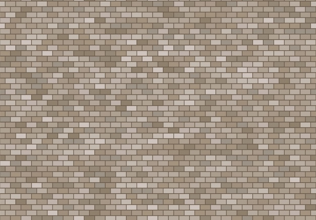 Old brick wall background. bricks texture seamless pattern vector.