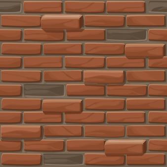 오래 된 벽돌 벽 텍스처 원활 하 게합니다. 그림 돌 벽입니다. 원활한 패턴