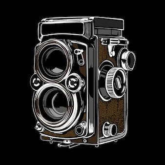 Old camera illustration vector