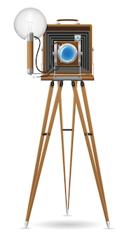 오래된 카메라 사진.