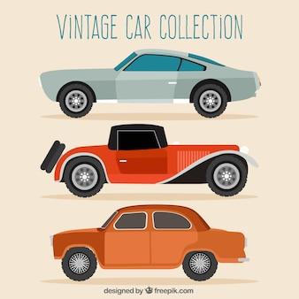 오래 된 자동차 평면 디자인 설정