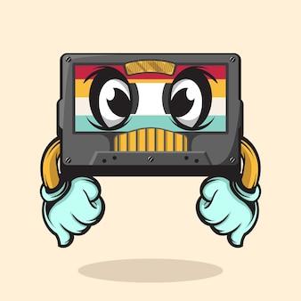 Старая кассета иллюстрация характера