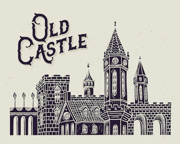Old castle illustration
