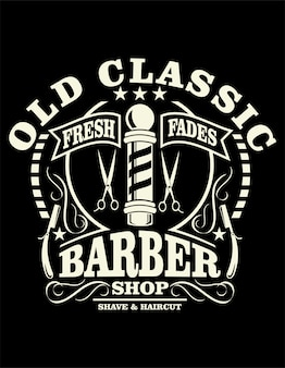 Old classic barber poster