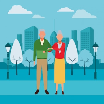 Old couple avatars