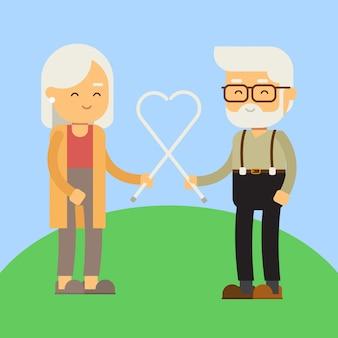 Old couples grandparent