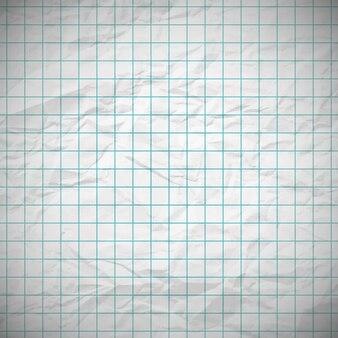 あなたのテキストのための場所が付いている古いへこんだノートの紙。ベクトルイラスト