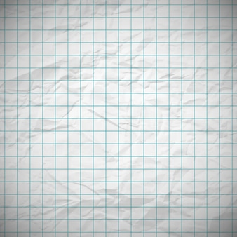 Old dented notebook paper with place for your text. vector illustration