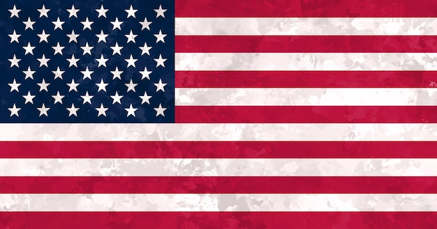 Old dirty united states flag