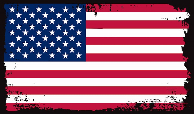 Old dirty usa flag