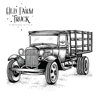 Old farm truck vintage style