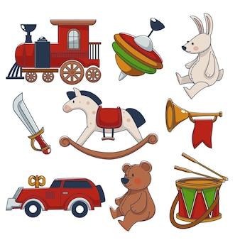 Старомодные и ретро-игрушки для детских игр