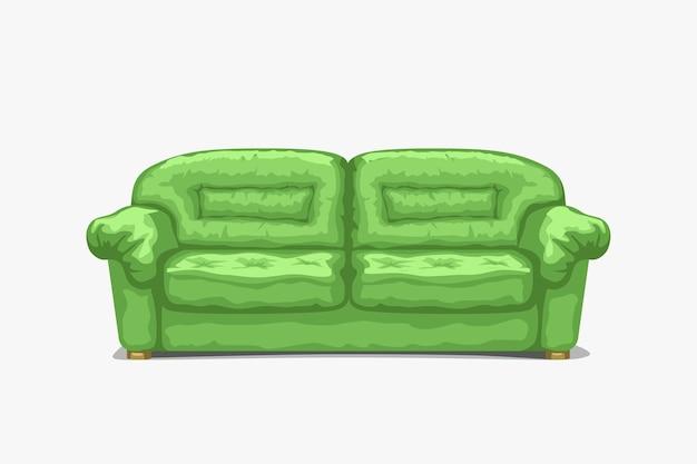 Старинный классический диван зеленого цвета