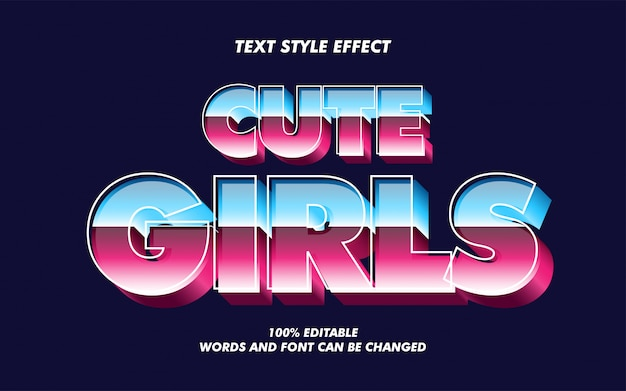 Old fashioned gradient text style effect