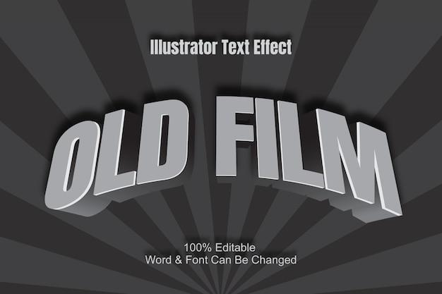 Эффект текста старого фильма