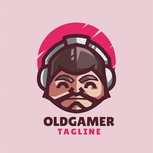 Старый минималистичный логотип геймера