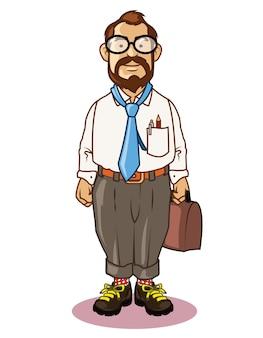 Old geeky teacher