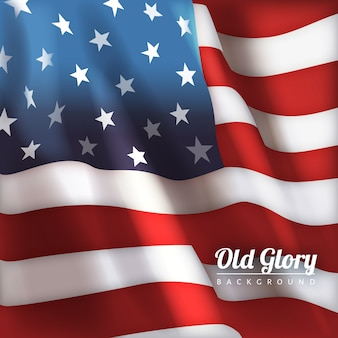 독립 기념일에 대 한 오래 된 영광 깃발 디자인