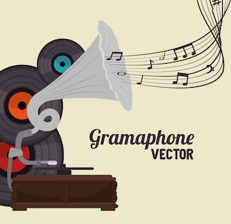 Old gramophone  isolated icon design