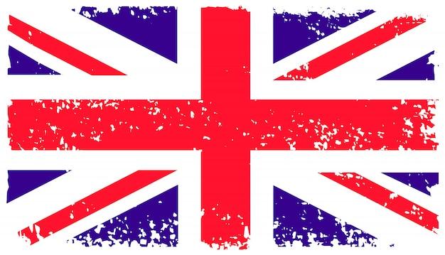 古いグランジ英国の旗