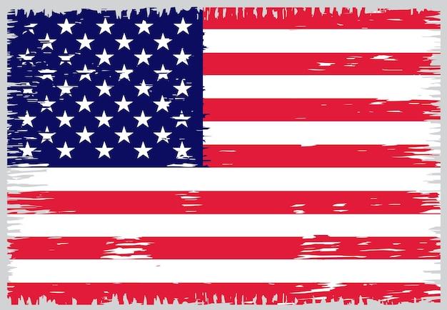 古いグランジアメリカ国旗