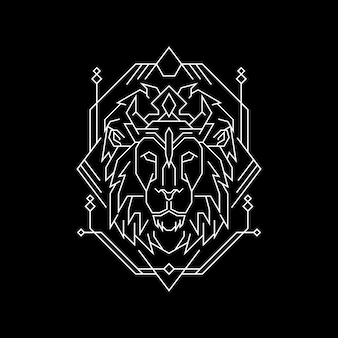 Old king lion geometry style