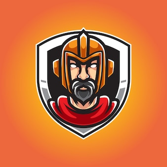 Old knight sport mascot logo