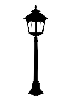 Old lantern silhouette vector illustration