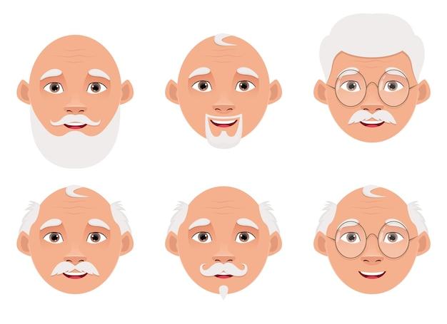 孤立した老人のデザインイラスト