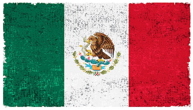 Old mexican flag