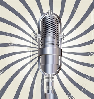 Old microphone retro background