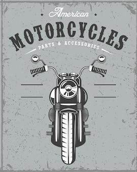 그런 지 배경에 오래 된 오토바이 카드