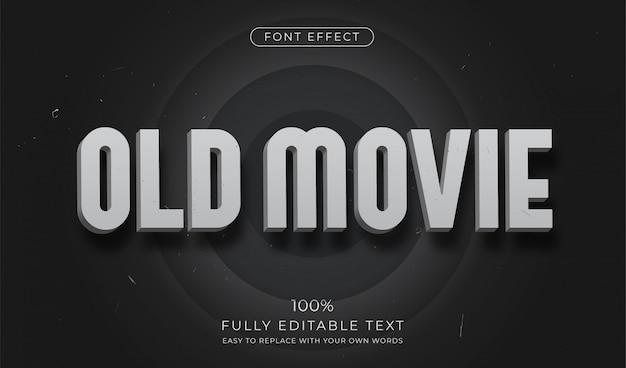 Старый текстовый эффект названия фильма. редактируемый стиль шрифта