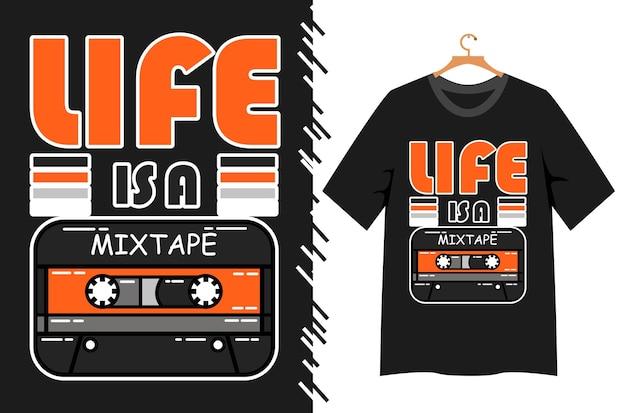 Tシャツデザインの古い音楽イラスト